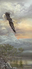 """Awaiting the Storm"" Bald Eagle Giclee"