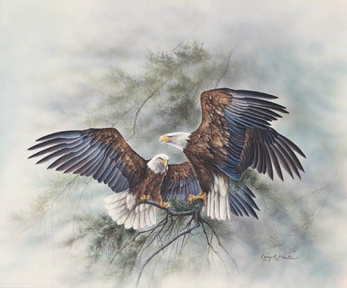 """Crown Thy Good with Brotherhood"" Bald Eagle from America the Beautiful Series"