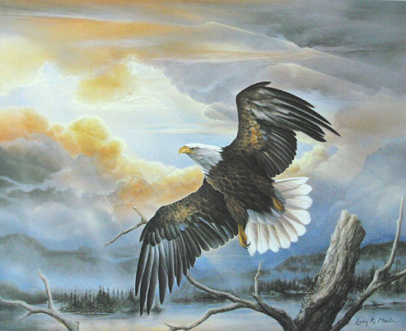 """God Shed His Grace"" Bald Eagle from America the Beautiful Series"