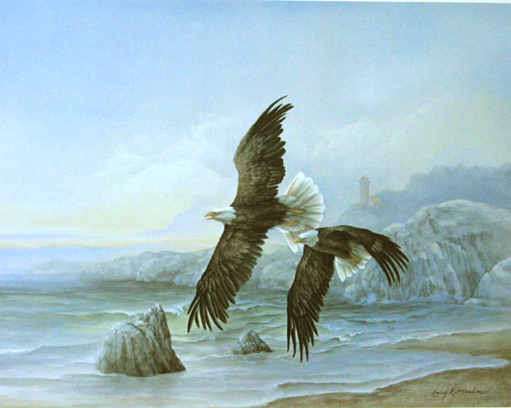 """Sea to Shining Sea"" Bald Eagle - America the Beautiful Series"