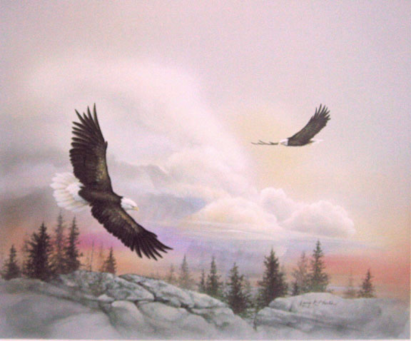 """Spacious Skies II"" Bald Eagle from the America the Beautiful Series"